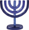 Anodized Aluminum 7 Branches Menorah Blue (EM-HMC2)