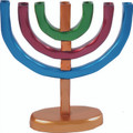 Anodized Aluminum 7 Branches Menorah Multicolor (EM-HMC3)