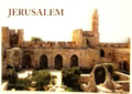 "3 D Jerusalem ""Migdal David+archeological gardens""  post card (GC-36522)"