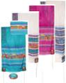 "Yair emanuel Hand-Painted Silk Tallit  - Jerusalem  21"" x 77"" TS-1"