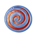 Aluminum Trivet Two Piece Swirl - Blue and Red (EM-MHDC-3A)