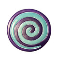 Aluminum Trivet Two Piece Swirl - Purple and Turquoise (EM-MHDC-3C)