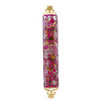 Laser Cut Hand Painted Mezuzah Large Birds Maroon (EM-MZC2M)
