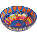 Paper Mache Bowl Jerusalem Colored ROUND LARGE (EM-PM-3C)