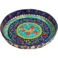Paper Mache Bowl Pomegranate Colored ROUND-FLAT LARGE (EM-PM-9A)