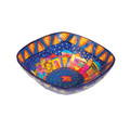 Paper Mache Bowl Jerusalem Colored SQUARE SMALL (EM-PM-5C)