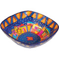 Paper Mache Bowl Jerusalem Colored SQUARE LARGE (EM-PM-6C)