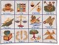 Emanuel Embroidered Tfillin Bag The 12 Tribes (EM-TFC-1)