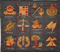 Emanuel Embroidered Tfillin Bag The 12 Tribes BLUE (EM-TFC-1B)