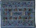 Emanuel Embroidered Tfillin Bag Pomegranates Blue (EM-TFC-2B)