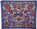 Emanuel Embroidered Tfillin Bag Blue (EM-TFC-6B)