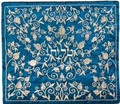 Talit Bag Full Embroidered Pomegranate Blue/Silver (EM-TBC-6BS)