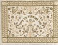 Embroidered Tefillin Bag Paper cut GOLD (EM-TFC-17G)