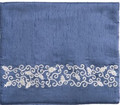 Blue Tallit Bag Pomegranates Silver (EM-TBL-6A)
