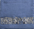 Blue Tefillin Bag Jerusalem (EM-TBS-8D)