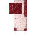 Tallit Organza - Full Embroidery Maroon (EM-TRZ1M)