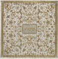 Embroidered Matzah Cover- Oriental Gold / Grey (EM-MMC3)