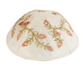 Embroidered Kippah Pomegranates GOLD (EM-YME-6G)