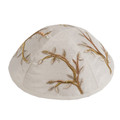 Embroidered Kippah GOLD (EM-YME-7G)
