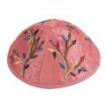 Embroidered Kippah PINK (EM-YME-7P)