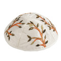 Embroidered Kippah WHITE (EM-YME-7W)