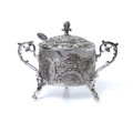Honey Dish Silver Plated Filigree Design (HD-X799)