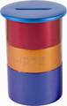 Anodized Aluminum Tzedakah Box Round Multicolor (EM-TZA5)