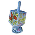 Emanuel Painted Small Dreidel With Stand (Nes Haya PO) (EM-DRS-6A)