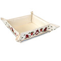 Emanuel Embroidered Folding Basket Pomegranates (EM-MB-2)