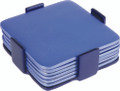 Set of 6 Aluminum Coasters Blue (EM-COM-4)