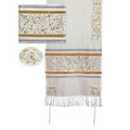 Tallit- Embroidered the Matriarchs- silver & gold (EM-TAH2Z)