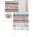 Tallit- Embroidered the Matriarchs- multicolor (EM-TAH2W)