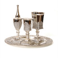 4 pc. Silverplate Havdalla Set- Filigree (HV-X880)