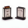 Wodd and Nickel Matchbox Holder- Brown (SHB-P746A)