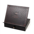"Paldinox Leather (PU) Tabletop Shtender with Drawer 14"" x 12"" (MC-X1811G)"