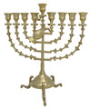 "Snake 14"" Brass Oil Menorah (M-214)"
