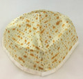 Matzah Print Satin Kippah-- Large (MC-MK1)