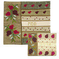 Raw Silk Matzah Cover- Pomegranates Gold (EM-MAS6)
