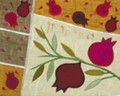 Raw Silk Afikomen Bag -Pomegranates White (EM-AFR3)