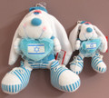 Blue and White Stuffed Bunny Rabbit with Israeli Flag on Blue Heart (27713, 27720)
