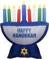 Inflatable Menorah Decoration with LED Lights-- 7ft (ID-M7F)