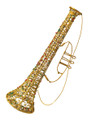 "Wired Trumpet with Beads and Glitter - 13"" (300258)"