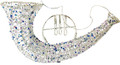 """Wired Cornet with Beads and Glitter - 7.5"""" (300259)"""