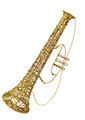 "Wired Trumpet with Beads and Glitter - 18"" (300897)"