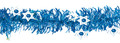 Blue and Silver Magen David Tinsel - Pack of 12 (71170)