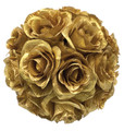 "8"" Rose Ball, Gold & Silver (CLA-20160295)"