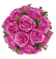 "8"" Rose Ball with Leaves, Multiple Colors (CLA-20160296)"