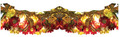 3 Way Garland with Gold and Red Flowers (66484)