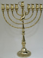 "Pitchers 25"" Brass Oil Menorah (M-225)"