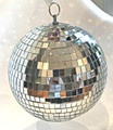"4"" Glass Mirror Ball - 2 pack"